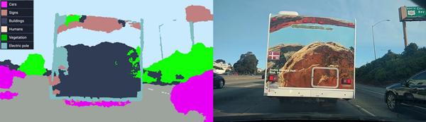 无人车感知系统对前方广告车背部图案的识别