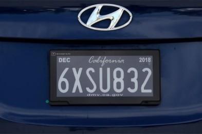 加州测试新款数字式车牌