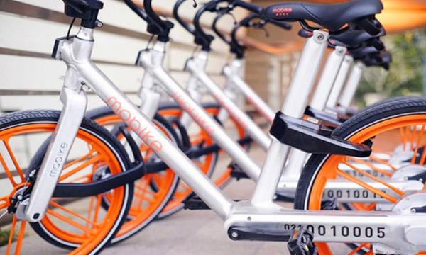 摩拜为共享设计的单车车身