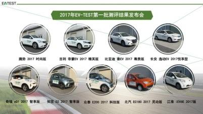 中汽研EV-TEST 首批批测评结果及主观评价规程发布
