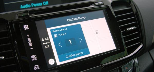本田联合VISA推出的车内支付功能