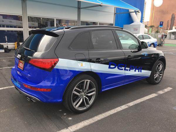 德尔福基于奥迪SQ5和CSLP平台打造的无人驾驶测试车