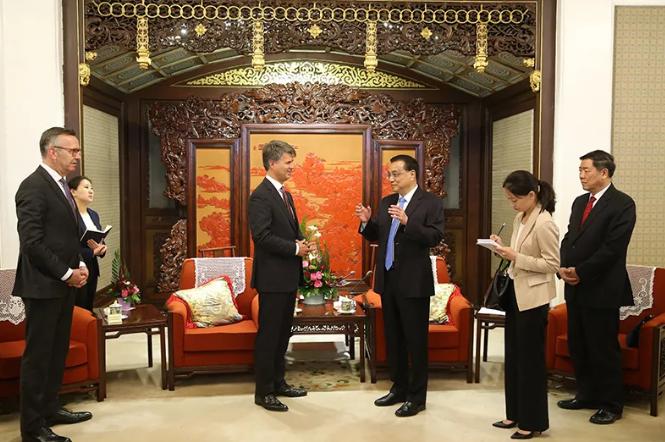 李克强总理会见宝马集团CEO克鲁格