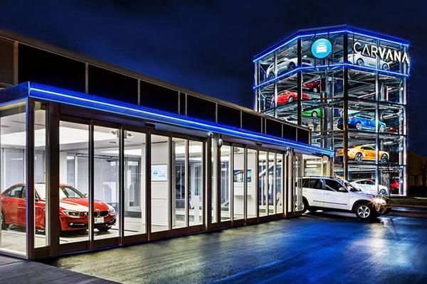 在自动贩售机里卖二手车的Carvana获C轮融资
