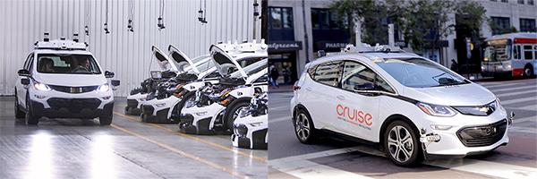 从左到右,分别为第二代和第一代自动驾驶测试车