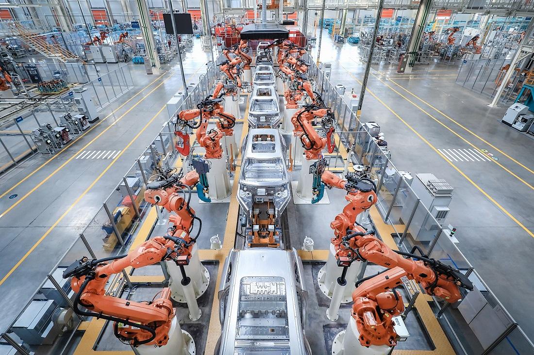 世界级智能制造工厂江淮蔚来生产基地