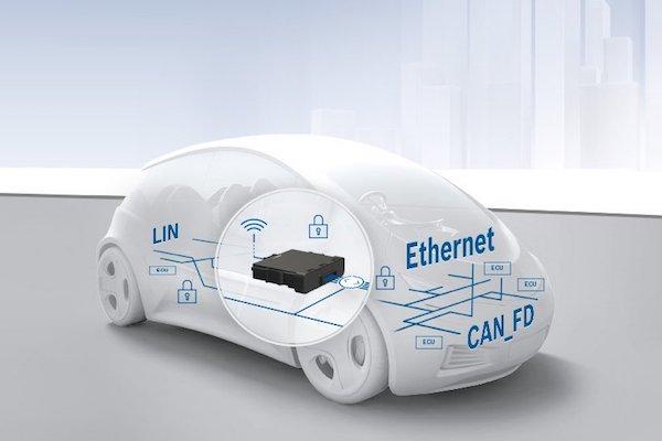 博世中央网关产品作用官方示意图,可以看出博世对于未来车辆电子架构的一些看法