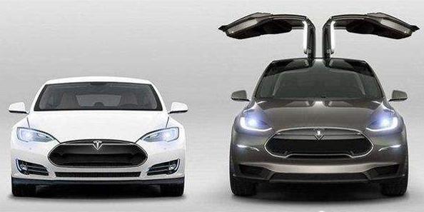 特斯拉Model S(左)、Model X(右)