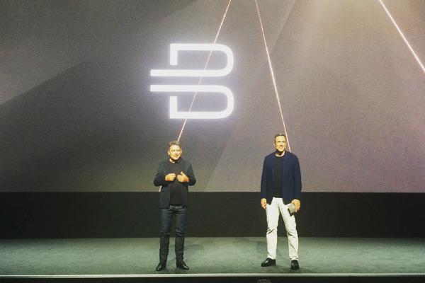 拜腾CEO毕福康(左)和拜腾总裁戴雷(右)