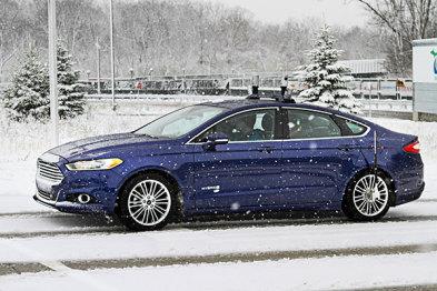 福特挑战高难度:雪天测试无人驾驶汽车
