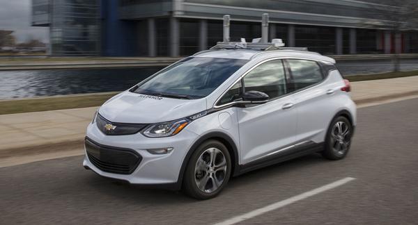 Bolt纯电动自动驾驶测试车是通用「未来出行」战略实施的重要一环