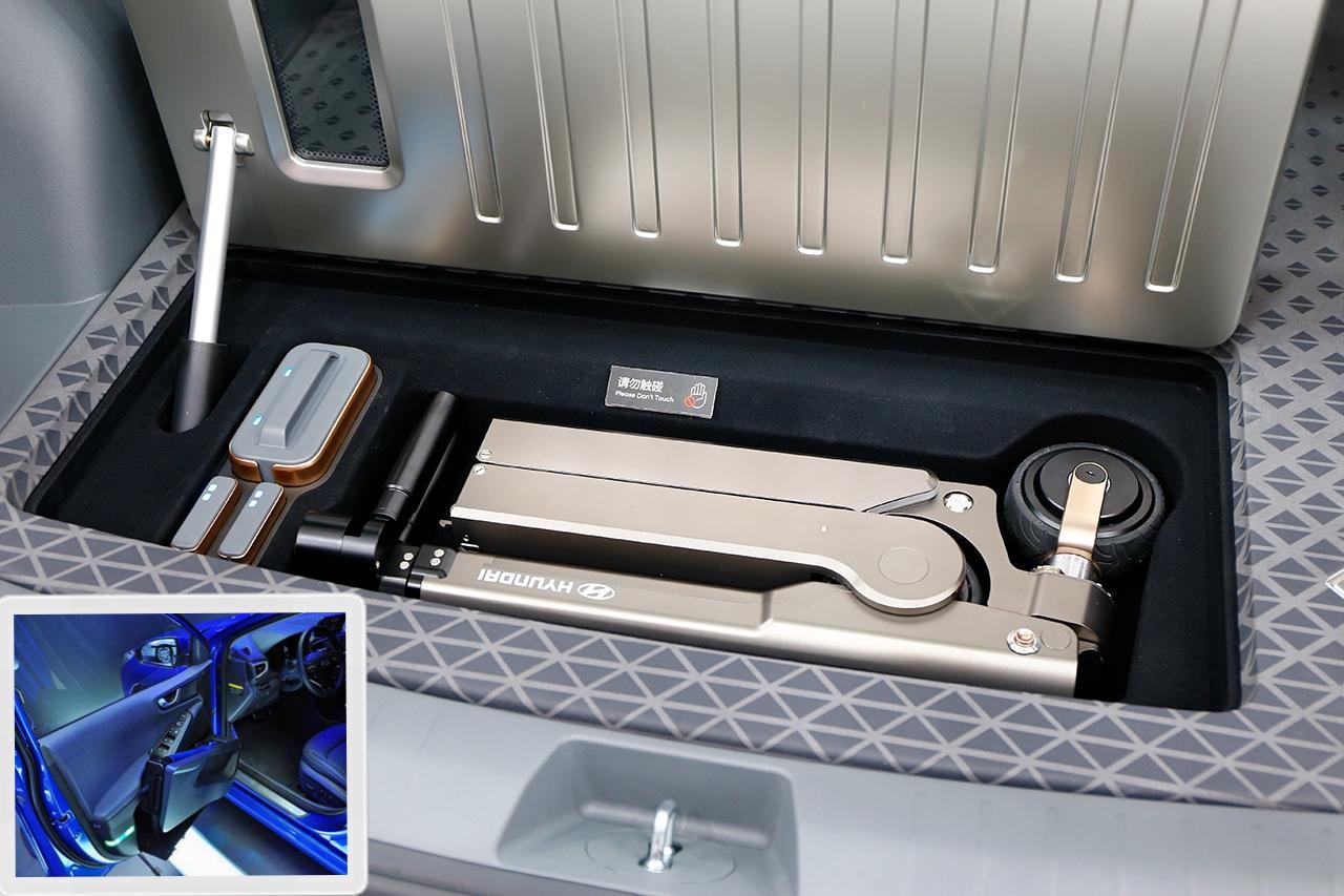 大图是NEXO的专用充电口,小图是IONIQ的专用充电口