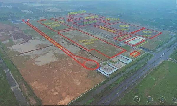 2018年9月,拜腾南京工厂鸟瞰图