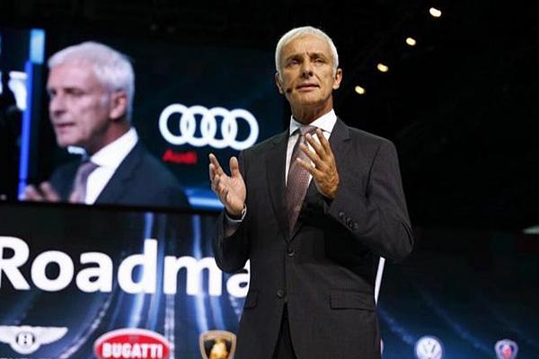 大众汽车公司首席执行官 穆勒(Matthias Mueller)