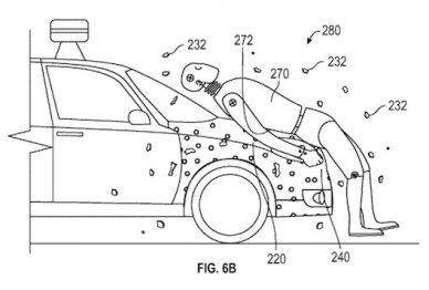 谷歌新专利:碰撞时可黏住行人降低伤害