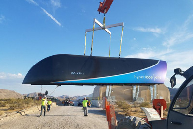 Hyperloop One完成首次超高速运输系统测试