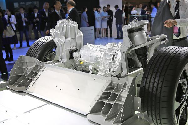 蔚来ES8的电机结构
