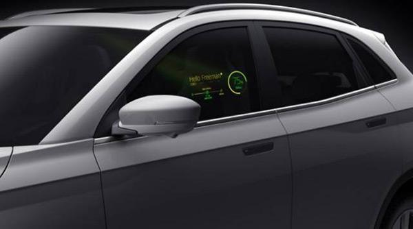 威马汽车首款量产产品首创车外交互新方式