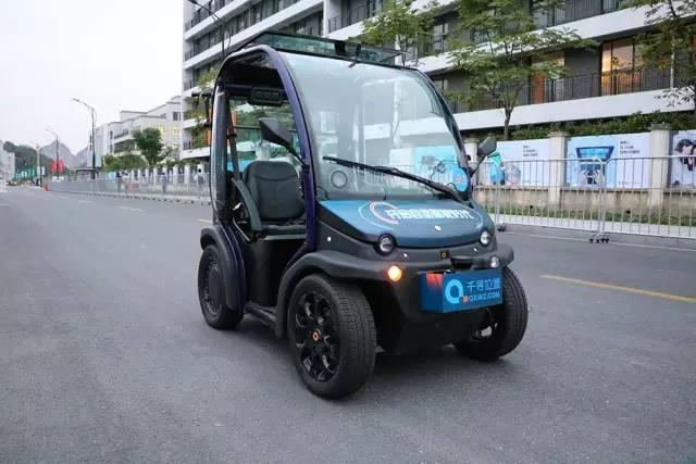 自动驾驶电动车,在云栖小镇开放试乘活动