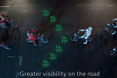 伦敦一万多辆租借自行车将加装投影灯