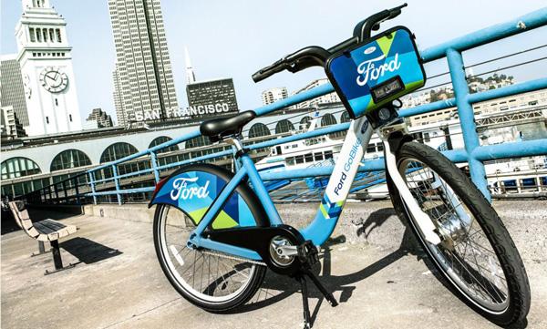 福特在旧金山地区推出的Ford GoBike自行车共享租赁服务
