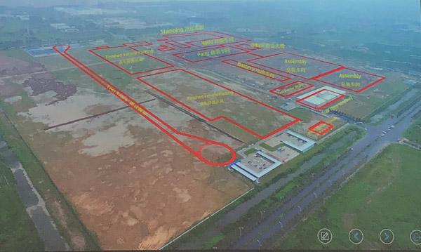 拜腾南京工厂最新航拍图