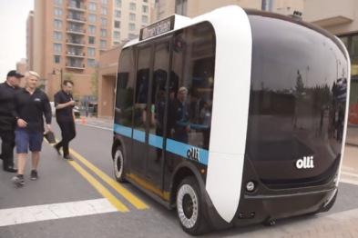 无人驾驶+人工智能,技术加持的小车Olli棒棒哒