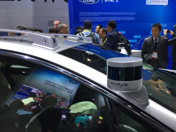 福特第二代Fusion自动驾驶原型车上安装的激光雷达传感器