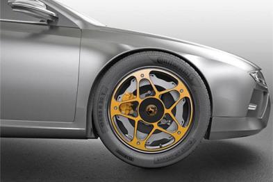 大陆研发首款电动车概念车轮,采用轻量化铝材