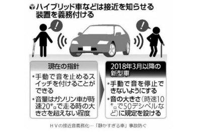 日本政府要求新能源汽车添加声音提示
