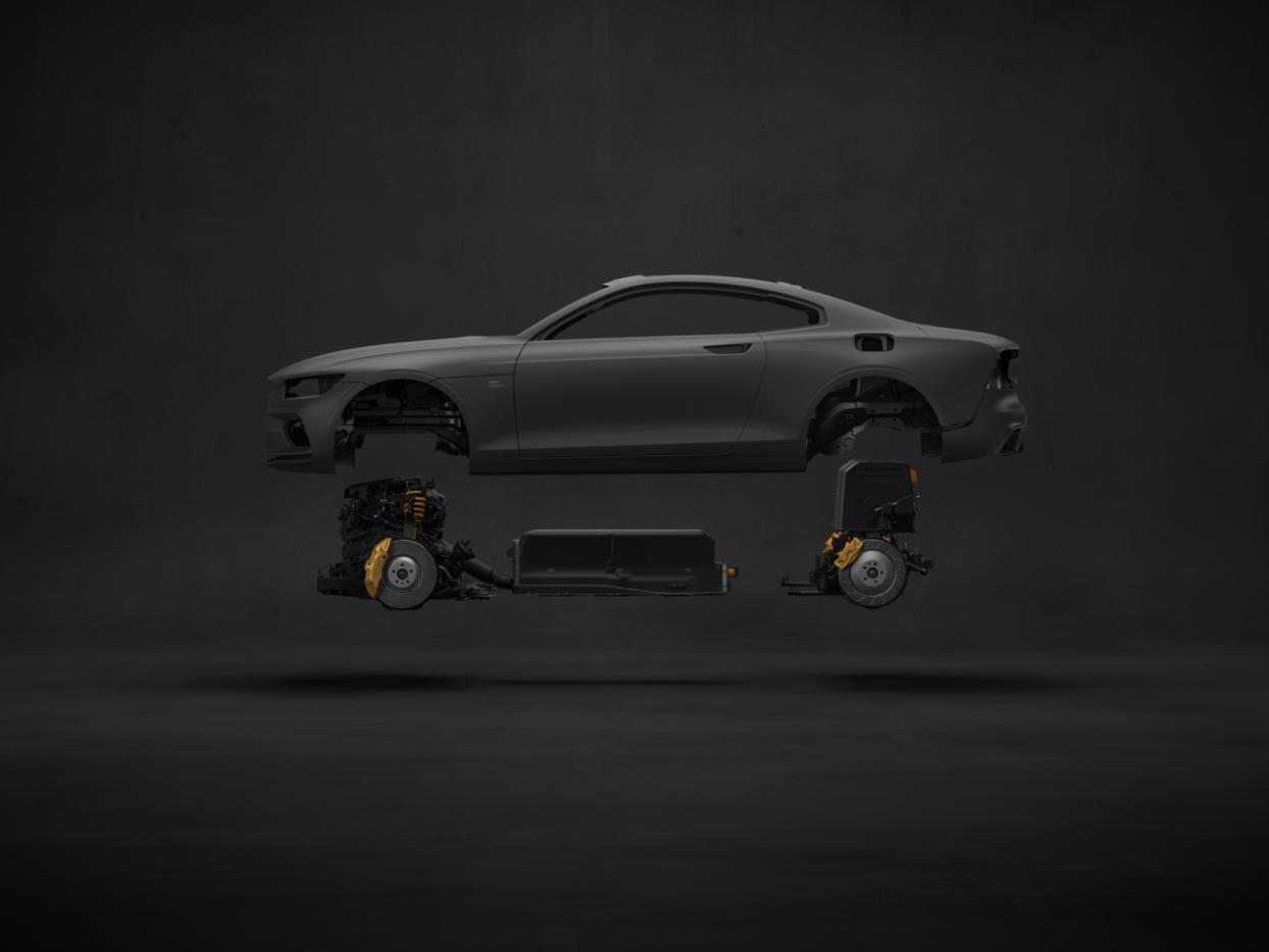 极星1碳纤维车身