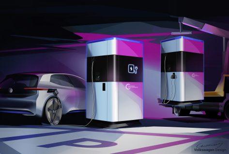 电动汽车,黑科技,前瞻技术,大众移动充电站,大众360千瓦时,大众充电站,大众MEB平台,汽车新技术