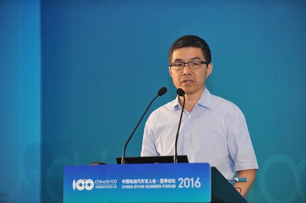 中国电动汽车百人会执行副理事长欧阳明高
