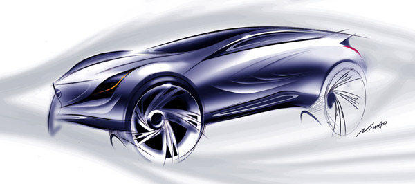 马自达CROSS风格概念车风舞(Kazamai)的设计图