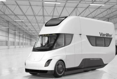 房车也能自动驾驶 特斯拉推Tesla Semi