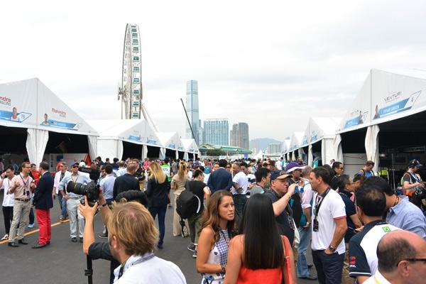 Formula E香港站赛道位于中环核心地带