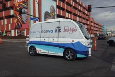 美拉斯维加斯公布该市第一辆无人驾驶巴士