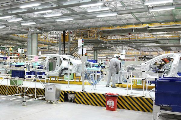 奇瑞捷豹路虎常熟工厂的全铝车间