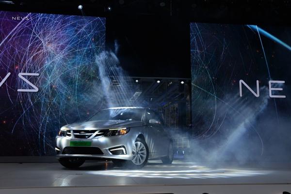 基于凤凰新能源汽车平台开发的NEVS 9-3纯电动车型