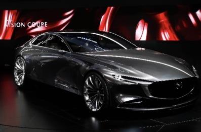 """马自达:携""""Mazda VISION COUPE?#22791;?#24565;车与""""创驰蓝天-X发动机""""?#26009;鄚上海车展"""
