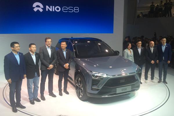蔚来NIO ES8上海车展揭幕