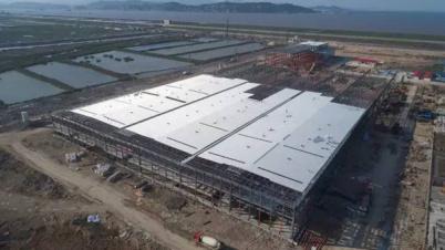 威马汽车工厂最新照片曝光:部分封顶,设备开始安装