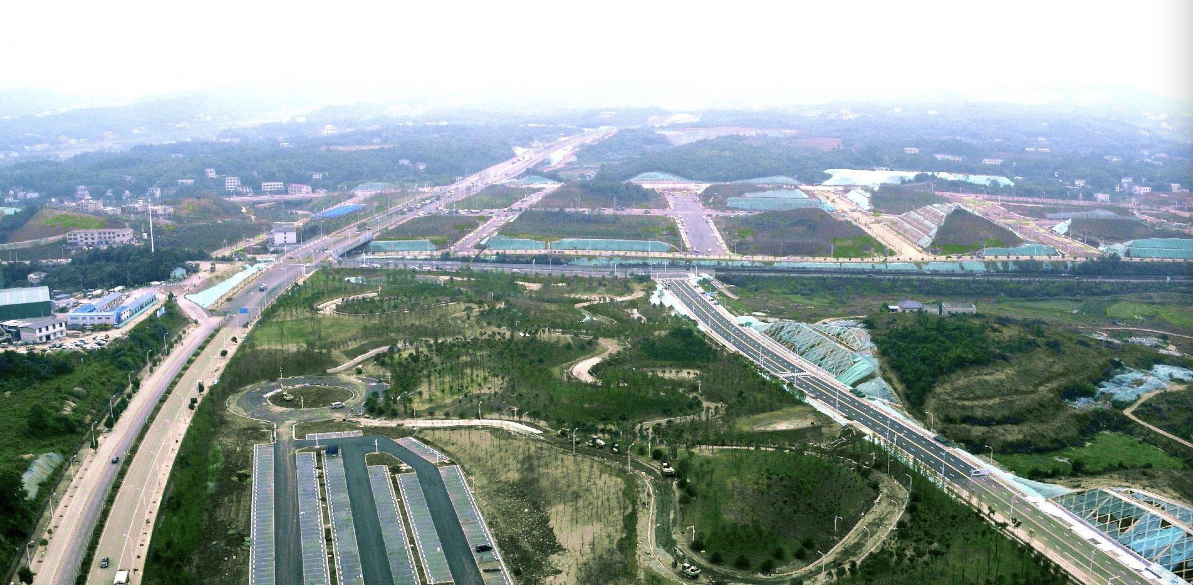 湘江新区智能系统测试区航拍图