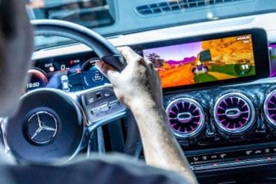 新款奔驰支持马里奥赛车游戏,变身最大临场模拟器