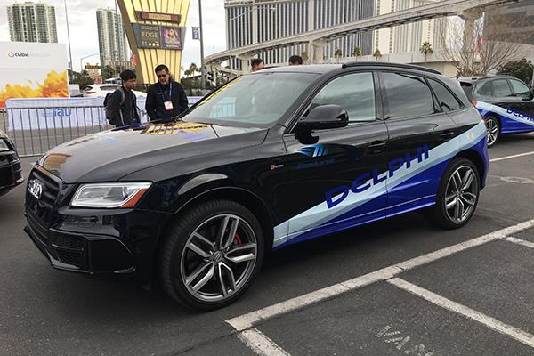 搭载有德尔福、Mobileye、Intel联合开发的CSLP自动驾驶平台的原型车