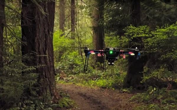 无人机在森林中使用视觉导航系统