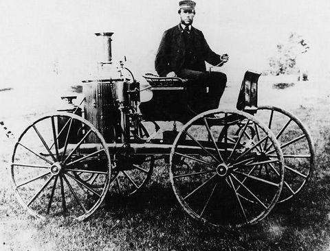 1870年的蒸汽机汽车