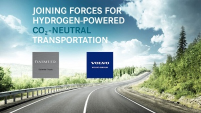 戴姆勒与沃尔沃合资成立燃料电池企业