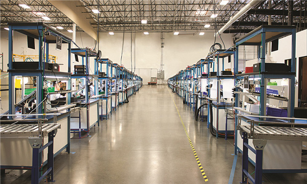 Velodyne LiDAR位于加利福尼亚州的工厂。