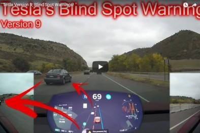 特斯拉V9版升级包提升盲点监测功能